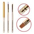 Belen Pen Escova DIY Unhas de Gel Verniz UV LED Soak off 3D efeito de Escova de Unhas de Acrílico UV GEL Nail Art Pen Brushes 6 DIY desenho