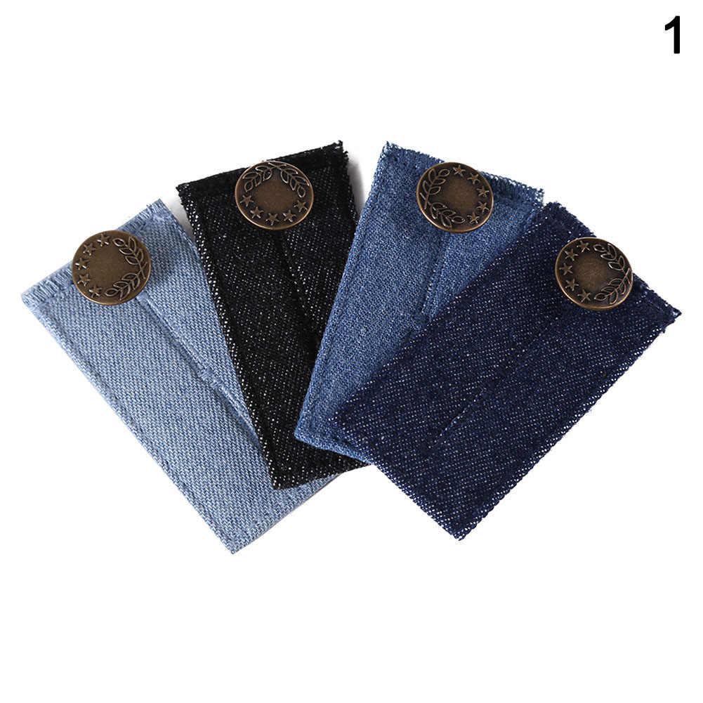 Botón extensor de cintura de Jean de mezclilla alta para hombres y mujeres con botón de Metal acabado dorado Ajuste de cintura DIY UEJ