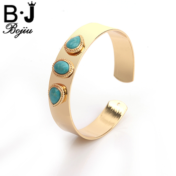 Bracelet Bangles Three Water Drop Natural Stone