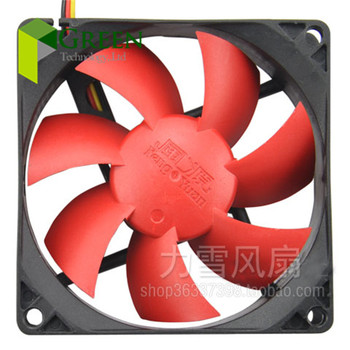New DC12V Silent 80MM 8025 80*80*25MM 8*8*2.5CM chassis fan Hydro bearing Computer case fan 3pin and 4D image