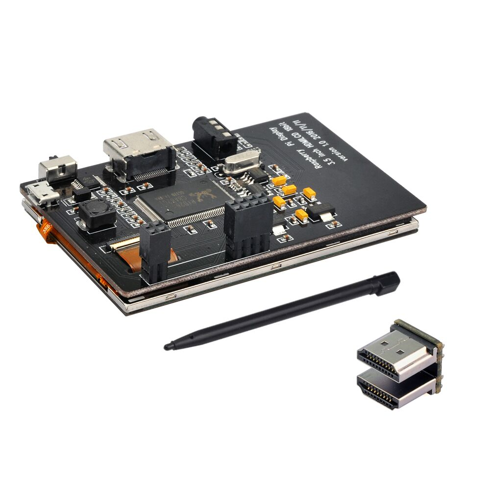 Image 4 - 3,5 дюймов HDMI LCD TFT сенсоный экран дисплей с акриловым прозрачным корпусом для Raspberry pi 2 и Pi 3 Модель B-in Доски для показов from Компьютер и офис