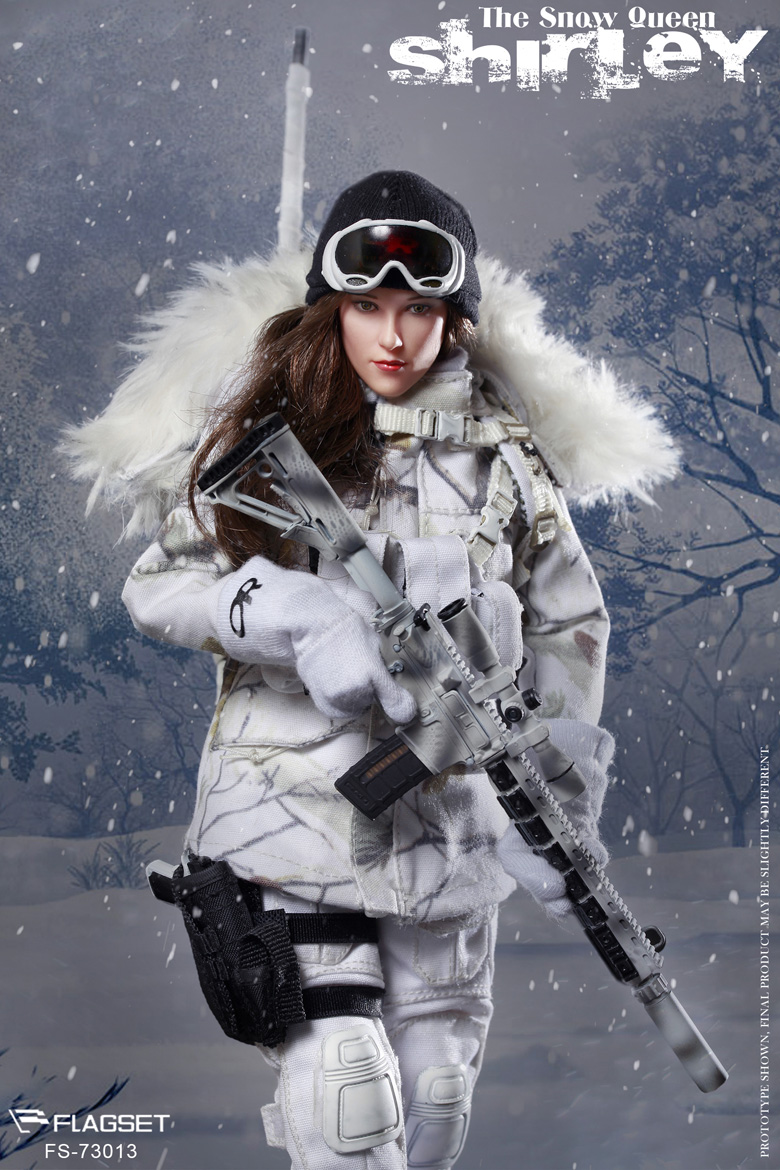 FLAGSET FS 73013 Female Snow Queen Shirley Sniper 1 6 FIGURE