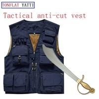 Новинка 2017 года самообороны тактический полиции SWAT Шестерни Анти Cut Ножи устойчива к порезам Броня анти жилет военной безопасности одежда 4