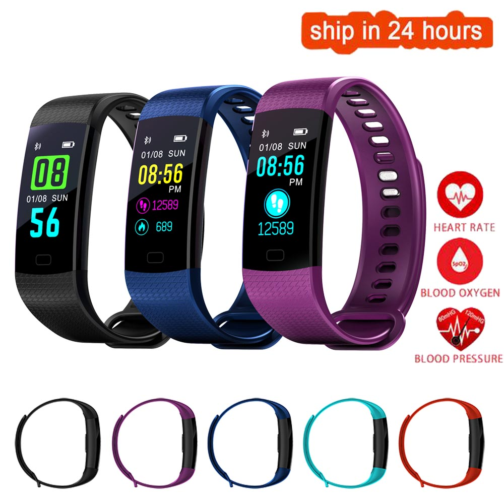 K24 Color Screen Smart Wristband Sports Bracelet Heart Rate Blood Pressure Oxygen Fitness Tracker for Sony Xperia Z5 XZ Preminum