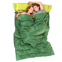 2 15m 1 45m Outdoor Double Sleeping Bag Envelope Style Spring And Autumn Camping Hiking Portable