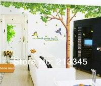 [Fundecor Monopólio] grande tamanho extra grande árvore genealógica decalque da parede folhas verdes frescas adesivos mural removível home decor art 4023