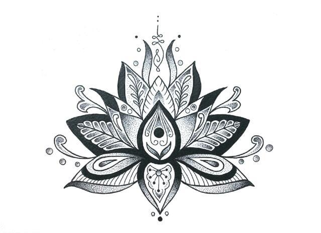 Waterproof Temporary Fake Tattoo Stickers Vintage Grey Lotus Flowers Big Design Body Art Make Up Tools