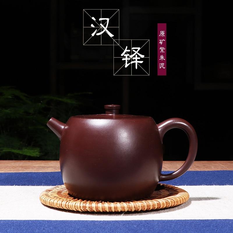 Yixing thé ensemble manuellement déshabillé minerai violet argile zhu han pot