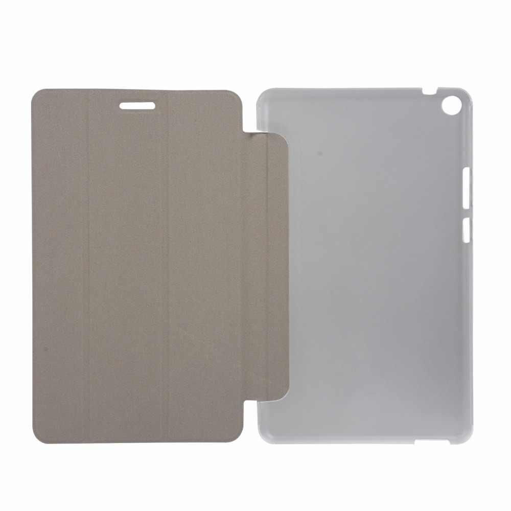 50 шт./лот прозрачные Сталь провода три раза искусственная кожа Чехол для huawei Mediapad T3 8 высокое качество чехол
