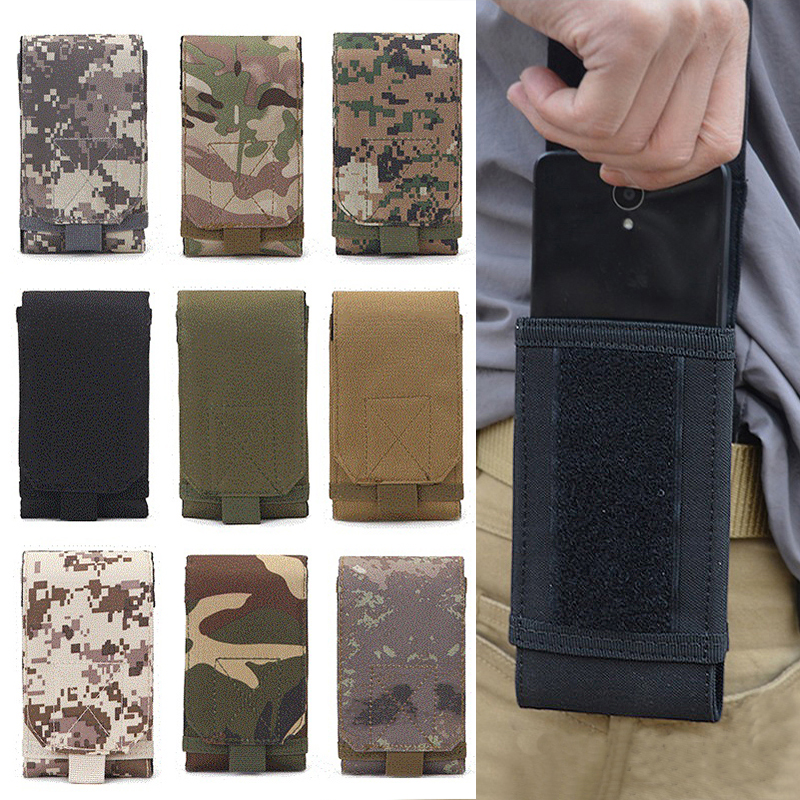 Outdoor Camouflage Waist Bag Tactical Army Phone Holder Sport Belt Bag <font><b>Case</b></font> Waterproof Nylon Sport Hunting Camo Bags in Backpack image