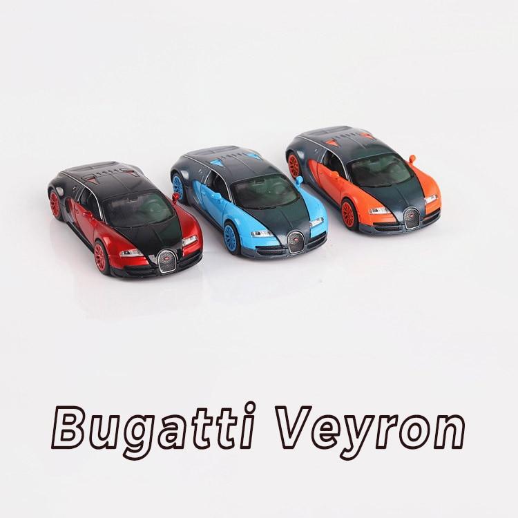 Bugatti Veyron Racing Alloy Car Three Colors Simulation Acousto