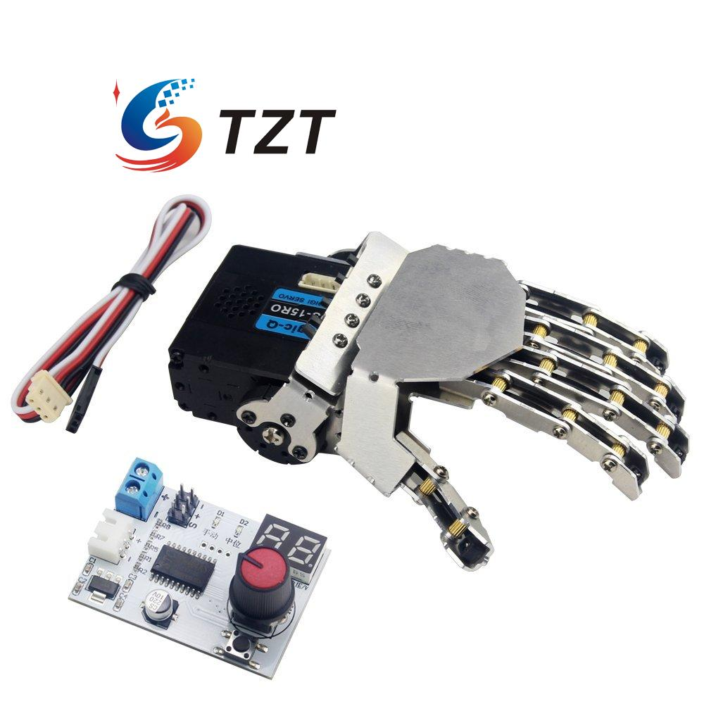 LewanSoul Hand-made Robotic Hand 5 Finger with Digital Servo and Servo Tester Left and Right adults kids hand wrist orthosis separate finger flex spasm extension board splint apoplexy hemiplegia right left men women