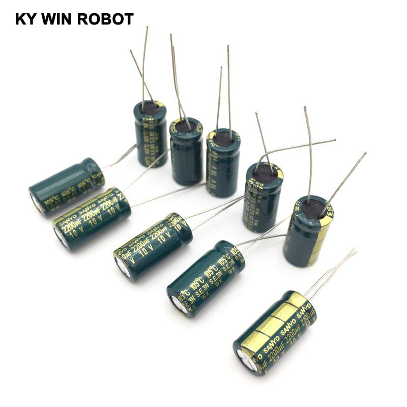 10PCS High Frequency 10V 3300uF LOW ESR Radial Electrolytic Capacitor 105C