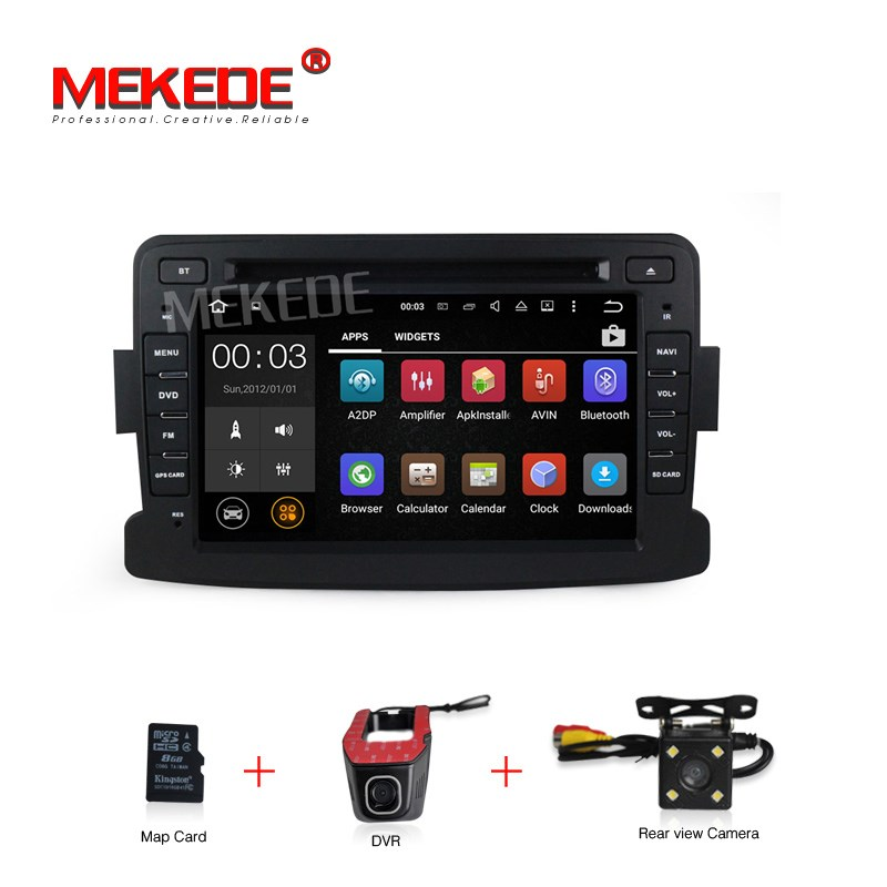Quad Core Pure Android7 1 GPS Navigator Radio For Dacia Renault Duster Logan Sandero Car DVD