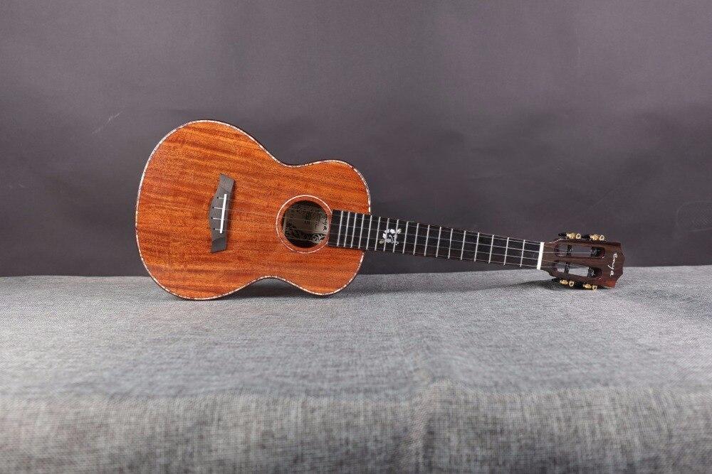 Demostración ~ Ukelele hecho a mano Concierto / Tenor AAAAA sólido - Instrumentos musicales