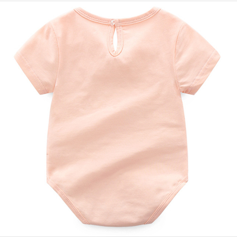 baby meisje rompertjes zomer katoen zwaan print Casual peuter romper - Babykleding - Foto 4