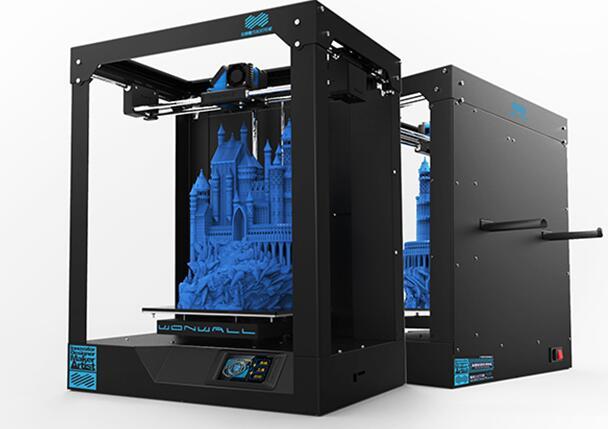 2017 3D printer, DIY 3D printer, all metal printer, high precision, large size, Break point continue wifi