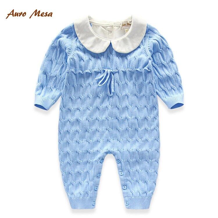 Auro Mesa New Knitting Baby Romper Blue/Pink One piece Jumpsuit Cute Newborn Knitting Rompers всесезонная шина continental sportcontact 6 225 35 r19 88y xl