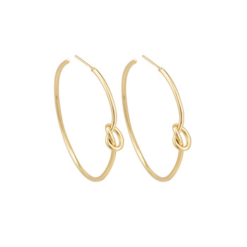 New Style Personality Knotted Earrings Female 2018 Fashion Jewelry Simple Circle Women Earring Ladies Party Earing Gold Color earrings