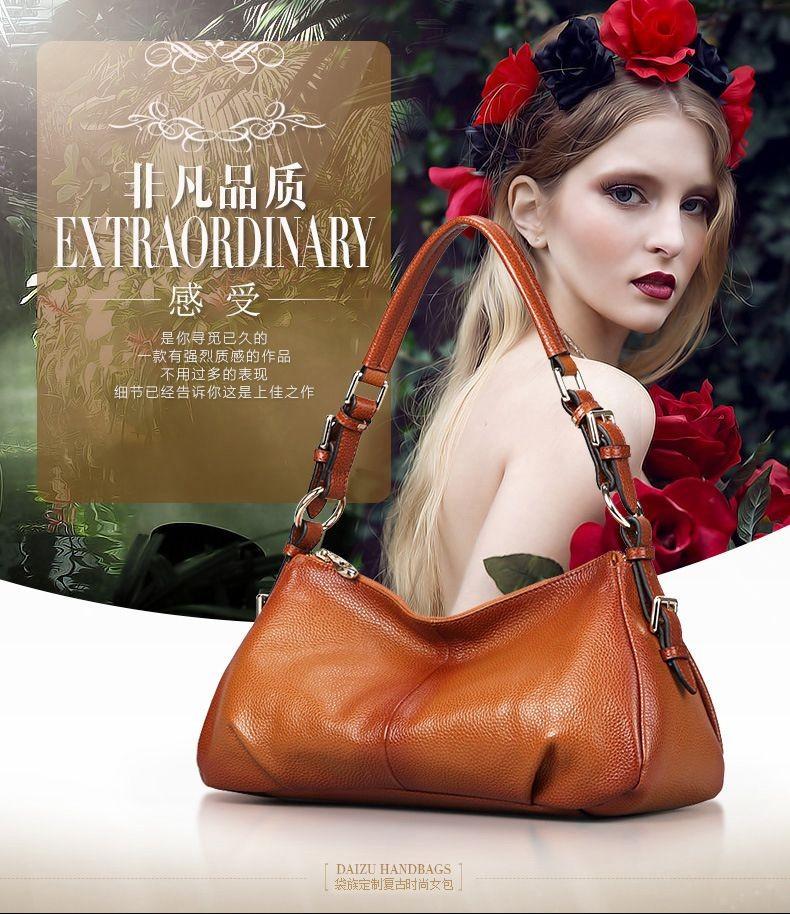 Ladies Handbags 2016 New Womens Bags And Purses Solid Women Leather Shell Bag Bags Zipper Retro Designer Handbags High Quality_028