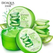 20PCS / lot BIOAQUA 220g Natural aloe vera Gel Smooth Tratament cu Acnee pentru Față pentru Hidratare Reparare Umiditate După Soare