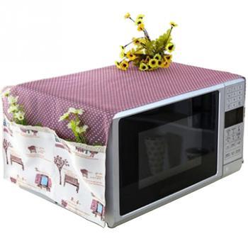 Nadruk w kwiaty kuchenka mikrofalowa osłona przeciwpyłowa osłona piekarnika zaopatrzenie domu akcesoria z torbą do przechowywania tanie i dobre opinie HOUSEEN Poliester bawełna Nowoczesne Microwave Dust cover
