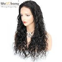 360 синтетический Frontal шнурка волос Искусственные парики 4,5 дюймов бразильский волосы remy волна воды натуральные волосы кружево парик для чер