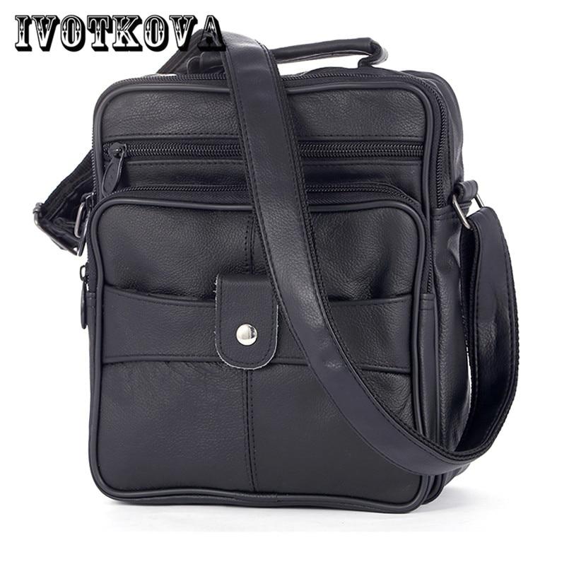 IVOTKOVA Hot Sale Men Messenger Bags New Men Leather Handbags Fashion Male Cross Body Shoulder Tassel Bag Bolsas Femininas ivotkova men nylon bag 2017 new fashion men s shoulder