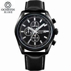 Новые Роскошные Кварцевые часы Для мужчин Спорт на открытом воздухе Chrono Leather Band Водонепроницаемый наручные часы Relogio masculino Лидирующий бренд