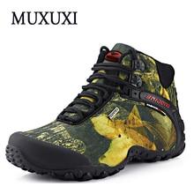 Mujermen de Escalada al aire libre 2017 Nuevos Hombres Respirables de los Zapatos Ocasionales Zapatos de Lona Botas Plataformas Planos de la Manera de Los Hombres A Prueba de agua