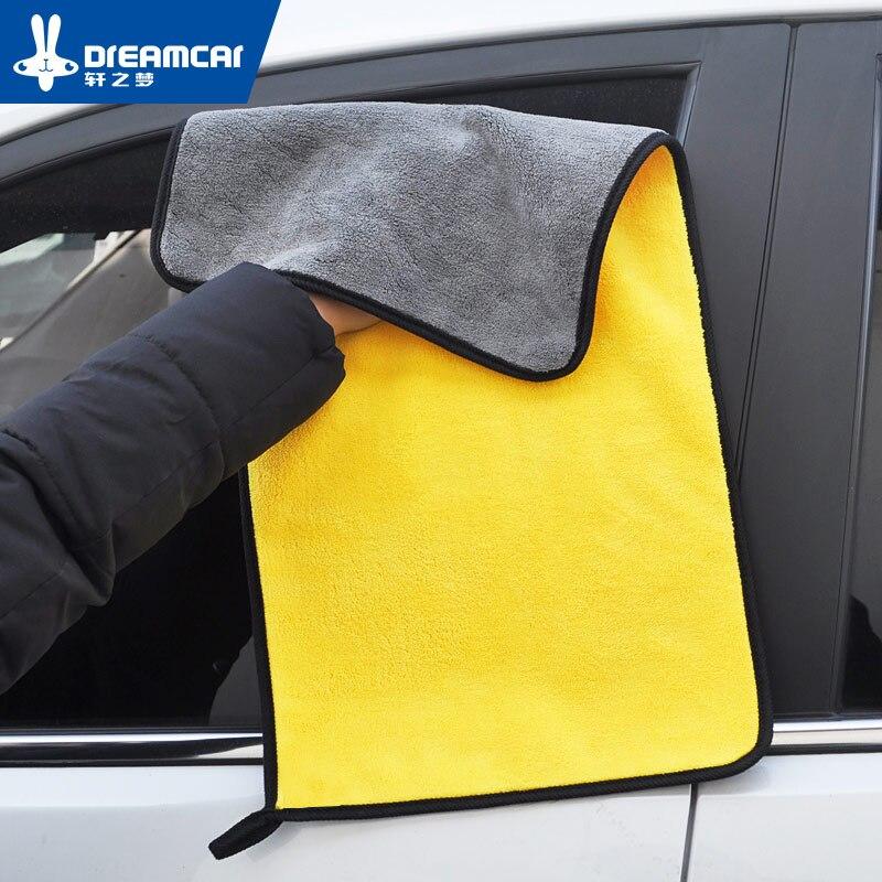 Super Absorbant De Lavage De Voiture En Microfibre Serviette Séchage Tissu Grand Ourlets Car Care Tissu De Nettoyage De Voiture Detailing Serviette