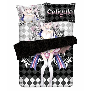 Anime JK Caligula Mu Heroine Girl Game Bedding Sets Cosplay Comforter Set Clear Pattern Washable Home Bed Decor Costume