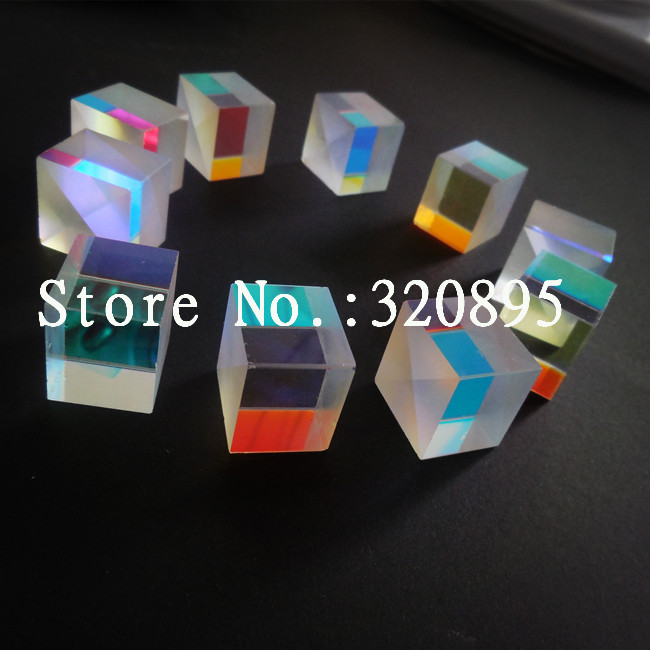 4 PCS 2.2X2.2X2.3cm Defective X-Cube Prism for Educational Ornamental Optical Component