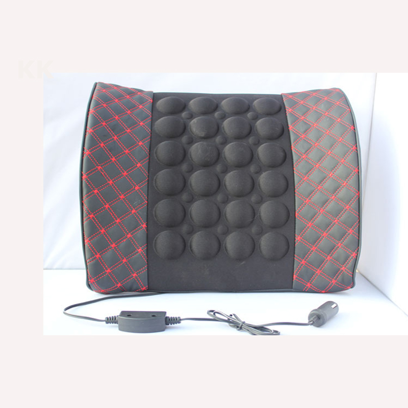 KKYSYELVA 12V Car Vehicle Electrical Massage Cushion Back Seat Lumbar Support Cushion Pillow Seat back support