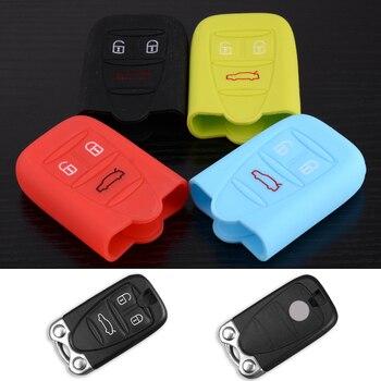 DWCX-funda de silicona con mando a distancia para coche, 3 botones, compatible...