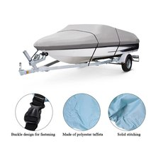 11-22 Feet Speedboat Boat Cover V-Hull Boat Cover Polyester Taffeta UV Water Resistant with Storage Bag Kayak accessories 2019