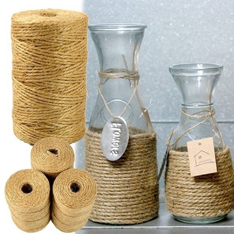 diy jute twine 100m natural sisal 2mm rustic tags wrap wedding decoration crafts twisted rope string - Sisal Rope