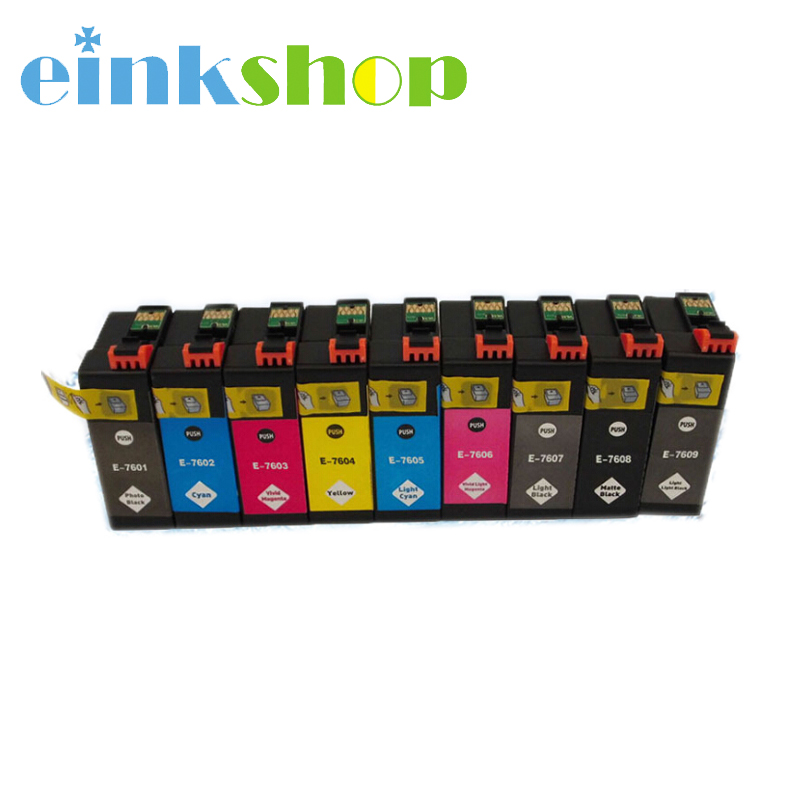 Einkshop 9 color Ink Cartridge T7601 - T7609 Ink For Epson surecolor SC-P600 printer ink For Epson P600 t7601 t7609 cartridge resetter for epson p600 surecolor sc p600 printer chip resetter