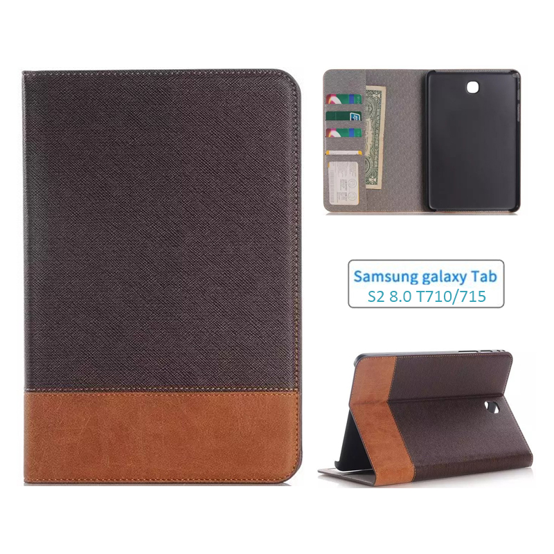 For Samsung Galaxy Tab S2 8'' SM-T710 T715 T713 T719 Smart Protective Case Cover for Galaxy Tab S2 Slim fashion PU Leather Cover fashion protective aluminum cover silicone back case for samsung galaxy note 2 n7100 grey