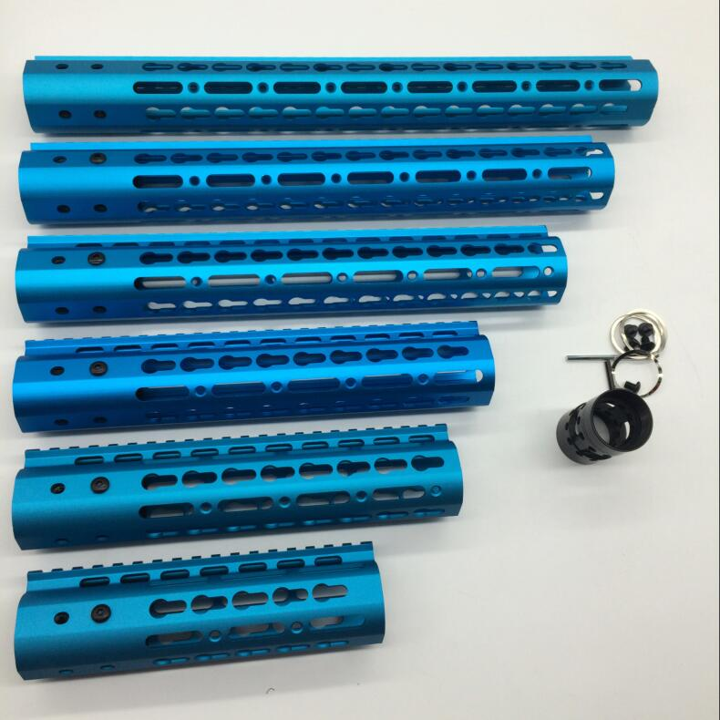 TriRock 7 9 10 12 13 5 15 Inch Ultra Light Slim Anodized Blue Keymod Free