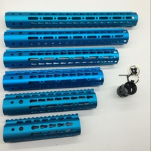 "7''9''10''12''15 ""Inch Ultra Light Slim Anodized Blue Keymod Gratis Flytande Hand Guard For Rail Mount System"