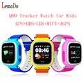 Lemado q90 gps smart watch relógio bebê com wifi tela sensível ao toque de chamada sos localização rastreador dispositivo anti-perdido do monitor pk q80