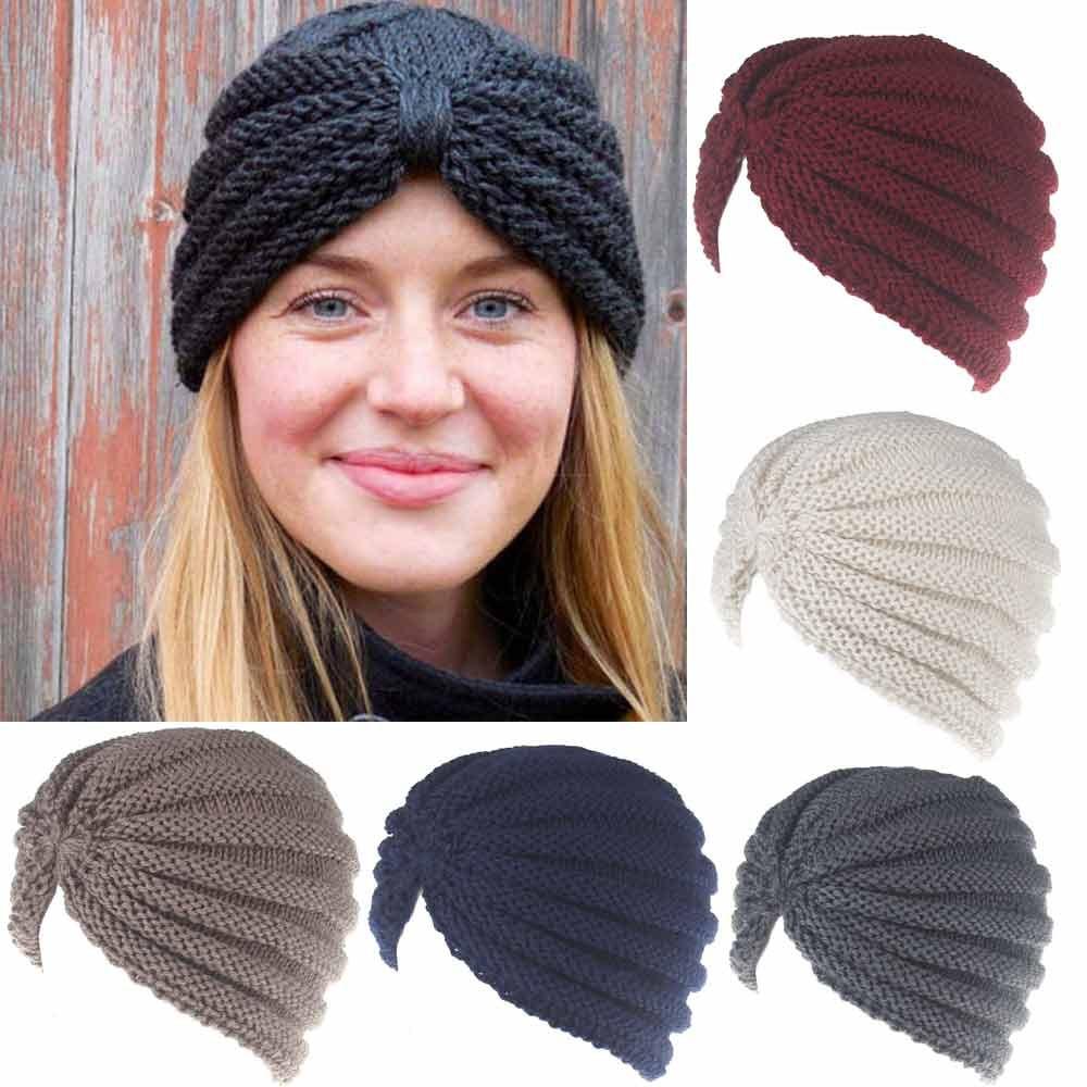2018 Autumn winter new hats woman Fashion Keep Warm Manual Wool Knitted Earmuffs Hats Girls Caps Outdoor Wear  Soild Color Gorra beanie