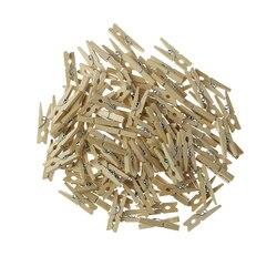Оптовая продажа очень маленький размер шахты 30 мм Мини натуральные деревянные зажимы для фото прищепки ремесло украшения Зажимы колышки 50 ...