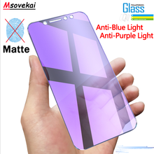 Anti Blue Purple Light Tempered Glass For Huawei P20 Lite Pro Mate 20 X 10 Lite Pro P10 Lite Plus Matte Frosted Screen Protector