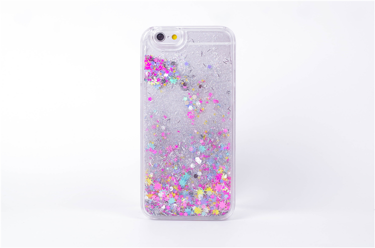 hot sale online 185a9 797ec Water Liquid Phone Case For iPhone 4 4S 5 5S SE 5C Luxury Rainbow Unicorn  Horse Twinkle Quicksand Glitter Star Cover