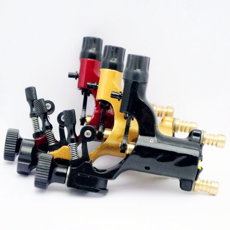 Pro 3pcs Mixed Red Yellow Black Dragonfly Rotary Motor Tattoo Machine For Liner Shader stylish retro dragon shaped alloy earrings copper pair