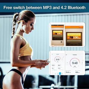 Image 5 - Tayogo HIFI su geçirmez MP3 kulaklık ile Bluetooth radyo FM pedometre sualtı USB MP3 müzik çalar yüzme spor dalış