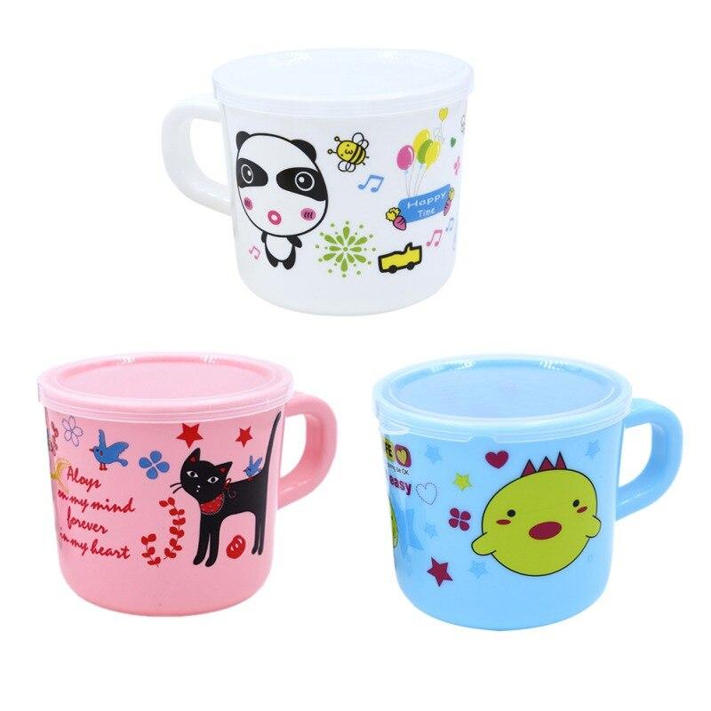 Fütterung Romantisch Neue Kinder Baby Ring Milch Tasse Cartoon Muster Kunststoff Shatter-beständig Trinken Tasse 150 Ml Muster Zufällig