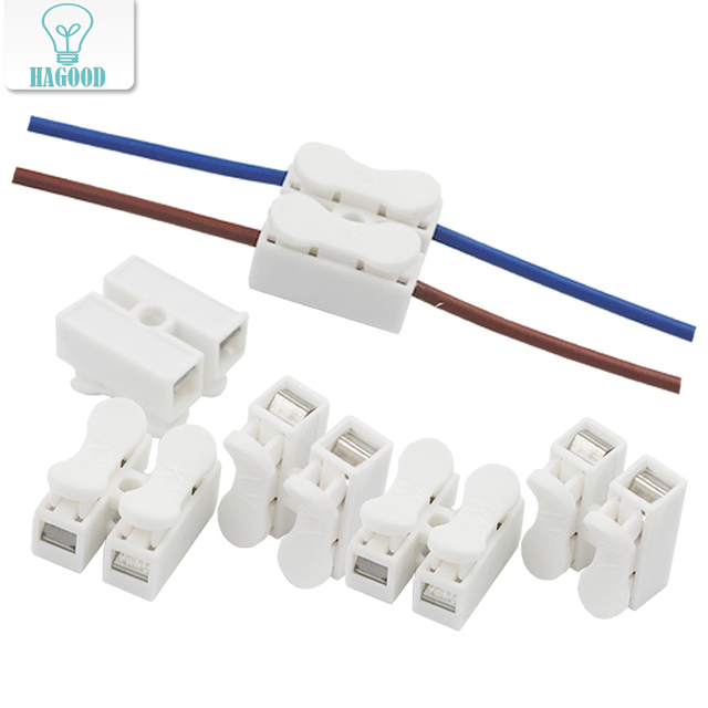 How To Strip Wire Fast | 10pcs Led Strip 2p Ch 2 G7 Spring Wire Quick Connector Splice With